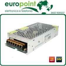 Alimentatore per strisce LED 24V Vdc 100W Watt 4.25A trasformatore 24 Volt