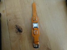 Guess Leather Orange Watch Analog Wristwatch Ladies