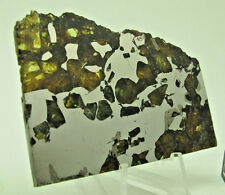 32.5 gram SEYMCHAN, Etched and Polished Part Slice Pallasite Meteorite