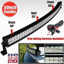 50inch 288w curved LED work light bar for truck SUV4WD boat UTE driving ATV lamp
