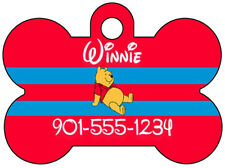 Disney Winnie the Pooh Dog Tag Pet ID Personalized w/ Name & Number