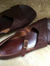 Chie Mihara Brown Leather Sandals Flats 38.5