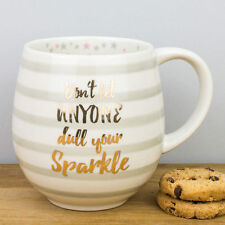 New Creative Tops Gold & Stripes Don't Dull Your Sparkle Gift Mug Large Stars