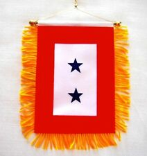 Two Blue Star Mini Service Banner Window Flag US Military Mom Patriotic Gift