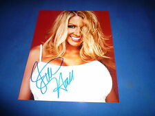 JILLIAN HALL sexy  signed Autogramm 20x25 In Person WWE
