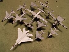 US Navy Aircraft Collection (13) Built and Painted Models, 1/144 Scale