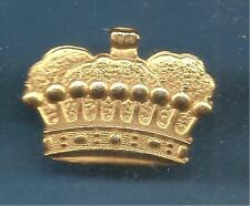 Pin's pin COURONNE FERMEE 9 BOULES 13 PIERRES Doree CROWN (ref 096)