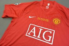 nike Manchester United Home Shirt MOSCOW 2008 Champions League Winner SIZE XL