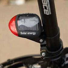 Solar Power Bicycle Bike Cycling Safety LED Rear Flashing Tail Light Lamp 3 Mode