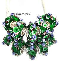 5pcs MURANO Lampwork charm Beads fit 925 silver European Bracelet Chain a966