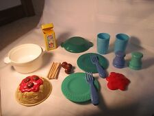 Fisher Price Fun with Food Spaghetti Dinner Noodles Set Container box meatballs