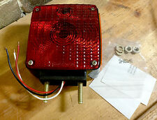 Grote #55410 Amber / Red / Turn Signal 2 Post w/ Pigtail Side Truck Light