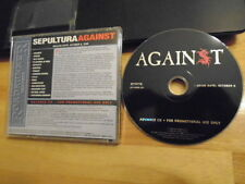 RARE ADVANCE PROMO Sepultura CD Against METAL newstead METALLICA Zebrahead R.D.P
