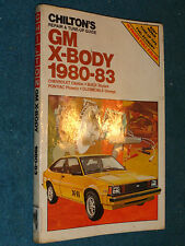 1980-1983 CHEVY CITATION / BUICK SKYLARK / PHOENIX / OLDS OMEGA SHOP MANUAL 82+