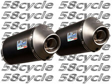 2009-2011 GSXR1000 Leo Vince SBK Unlimited DUAL Slip On Exhaust Black 2010
