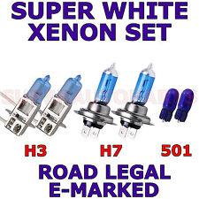 FITS  FIAT MULTIPLA 2000-ON  SET H3  H7  501 SUPER WHITE XENON LIGHT BULBS