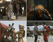 SET OF FOUR STAR WARS THE FORCE AWAKENS 10 x 8 PHOTO'S,LOT,SET.FREE POSTAGE! F67
