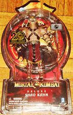 "MORTAL KOMBAT 9 X DELUXE SHAO KAHN LORD EMPEROR JAZWARES 8"" 20TH ANNIVERSARY"