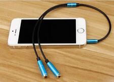 NUEVO 3,5 Mm 1 Macho A 2 Hembra Extensión Auricular Audio Y Splitter Cable
