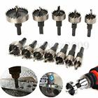 12XHole Saw Tooth Kit HSS 15-50mm Drill Bit Set Cutter Tool For Metal Wood Alloy
