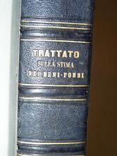 AGRARIA - Orlandini / Gioja: Trattato Beni Fondi 2 voll Economia con tavole 1853