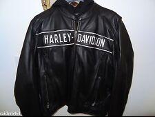 Harley Davidson ROAD WARRIOR Reflective Leather Jacket 3XL 98138-09VM Men's