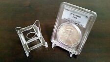 """25 Adjustable 2"""" Display Stand Easel Coin PCGS NGC Air-Tite Capsule"""