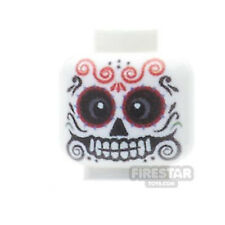 LEGO Minifigure Custom Printed Head - Day Of The Dead Sugar Skull - Male