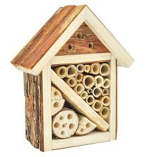 Mason Bee House Wooden Insect Hotel Lady Bug Nesting Home Garden Decor