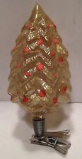 Antique Vintage PINE TREE ON A CLIP Glass German Feather Tree Christmas Ornament