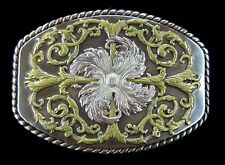 Flower Western Cowboys Cowgirls Flowers Floral Belt Buckles Boucle de Ceinture