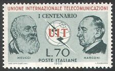 Italy 1965 ITU-UIT/Radio/Telecomms/Communications/People/Marconi 1v (n41690)