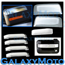 09-14 Ford F150 Chrome Half Mirror+4 Door+Tailgate Handle lever only Cover Trim