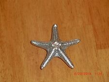 LAUREY (10) SATIN CHROME STARFISH CABINET KNOBS $28.50 ($2.85) each)