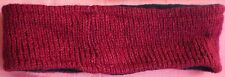 Hand Crocheted 100% Wool w/ Fleece Lining Headband Adult Size MAROON