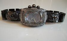 Designer Jesus dial  Geneva bracelet black hematite finish fashion men watch