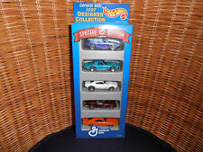 HOT WHEELS GENERAL MILLS 1997 DESIGNER COLLECTION Special Edition 5 Car Pack