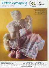 Baby 4 Ply Knitting Pattern Long Sleeved Angel Top, Bonnet & Shoes PG 730