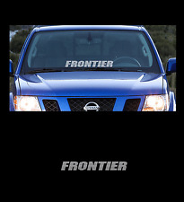 """Frontier Front Windshield 23"""" Banner Decal Sticker Fits All Nissan Frontier"""