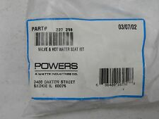 POWERS VALVE AND HOT WATER SEAT REPAIR KIT 227-290