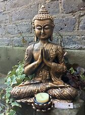 Large Beautiful Detailed Buddhas T/lit  Statue For The Home Or Garden. From Sius