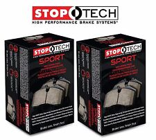 Honda Civic Coupe SI 1999-2000 Front and Rear Sport Brake Pads Set Kit StopTech
