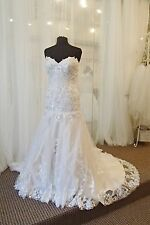 700  FIORE COUTURE KASSIE BP78 SZ 10 $2979  IVORY TAUPE WEDDING DRESS