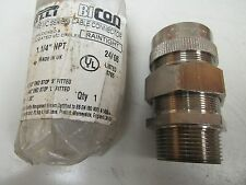 "NEW PIRELLI METAL CLAD CABLE CONNECTOR 416MC05 1-1/4"" NPT MC SERIES"