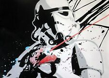 Star Wars Stormtrooper  28x28 oil painting NOT print, Vader Sith Framing avail.