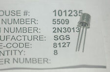 SGS 2N3013 Bipolar Junction Transistor NPN Type TO-52 New Lot Quantity-5