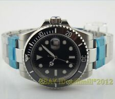 Parnis 40mm submariner style Ceramic Bezel Automatic Men's watch without logo