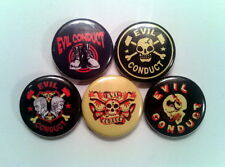"5 x Evil Conduct 1"" Pin Button Badges ( oi street punk king of kings rule o.k )"