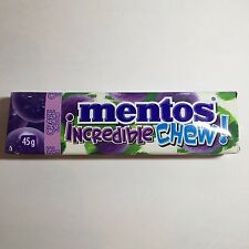 2015 NEW !!!!!   MENTOS INCREDIBLE CHEW!  GRAPE FLAVOR
