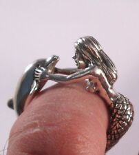 STERLING SILVER  MERMAID AND  DOLPHIN RING SIZE 8
